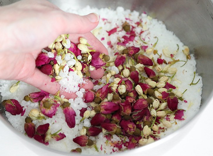 Spa Bath Salts Favors Recipe
