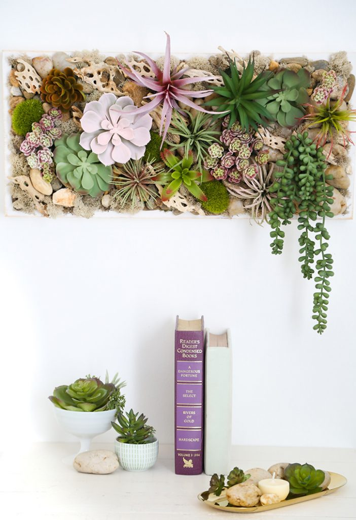 Succulent Wall Hanging Tray Confetti Fix