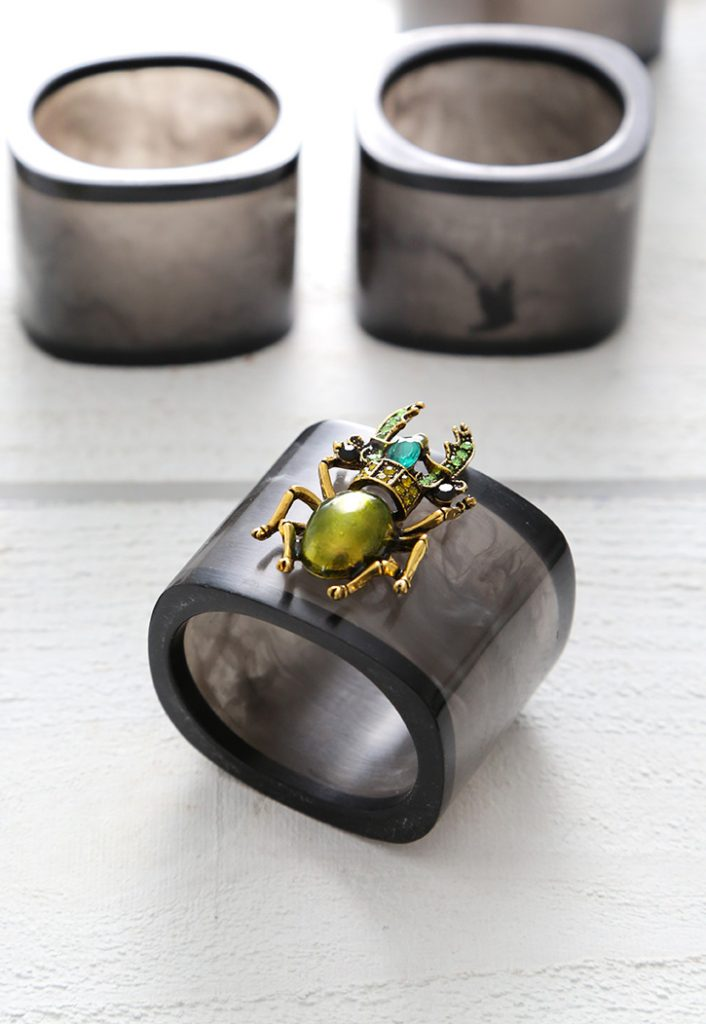 Jeweled Bug Napkin Rings
