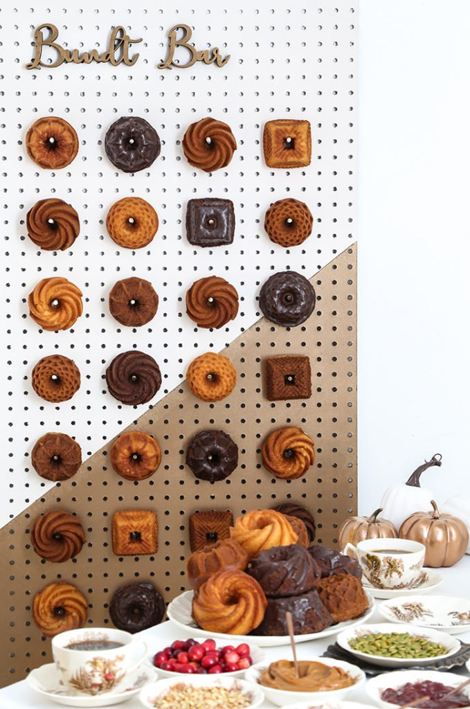 DIY Mini Bundt Cake Wall Bar
