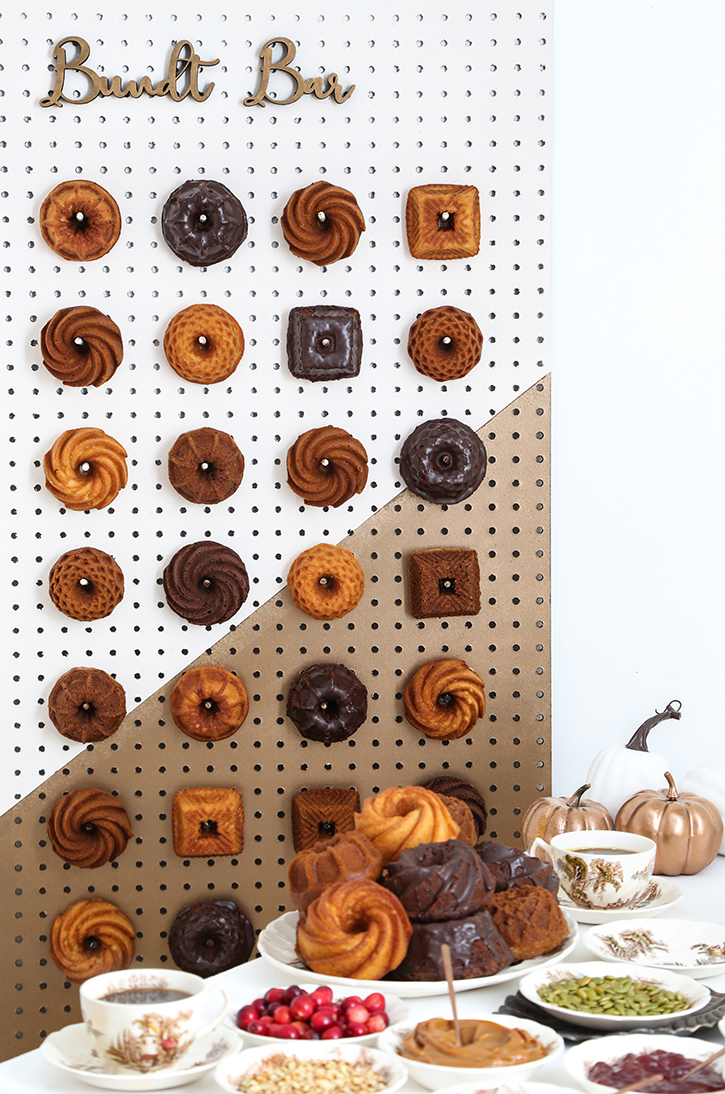 DIY Hanging Pegboard Bundt Cake Bar