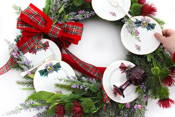 Make a Vintage China Wreath with Grandmother's Dishes