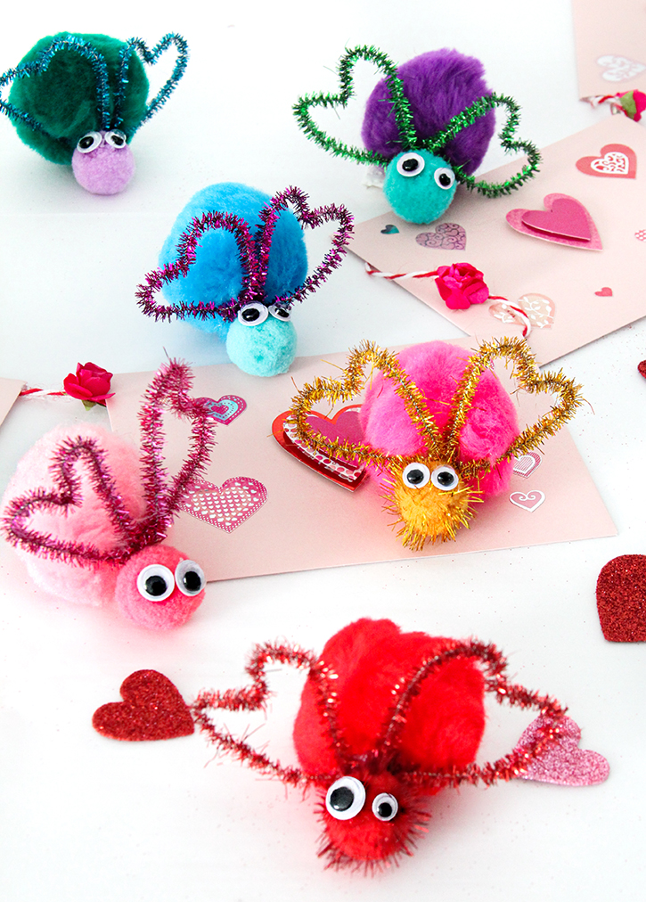 Pom Pom Love Bug Craft for Kids
