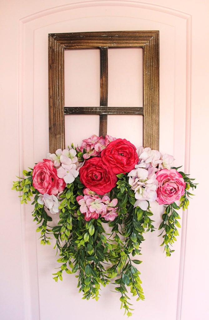 DIY Floral Window Frame